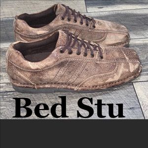 Bed Stu men's distressed leather lace up shoes 8.5